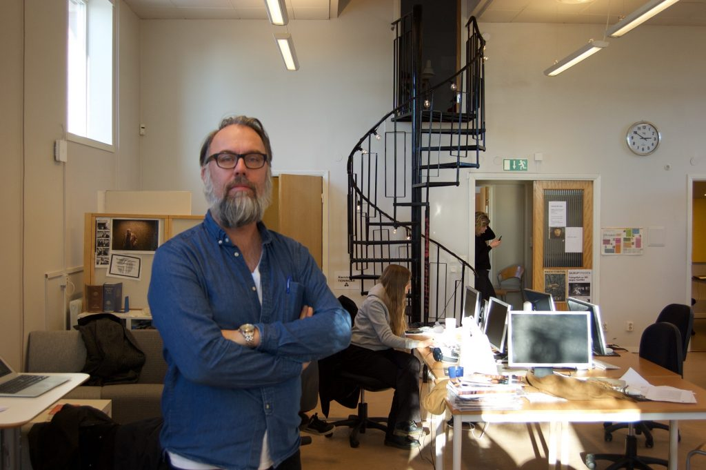 Ulf Svenning, linjeledare för journalistlinjen, är kluven till vilken roll nutidsprovet på testdagen ska spela.