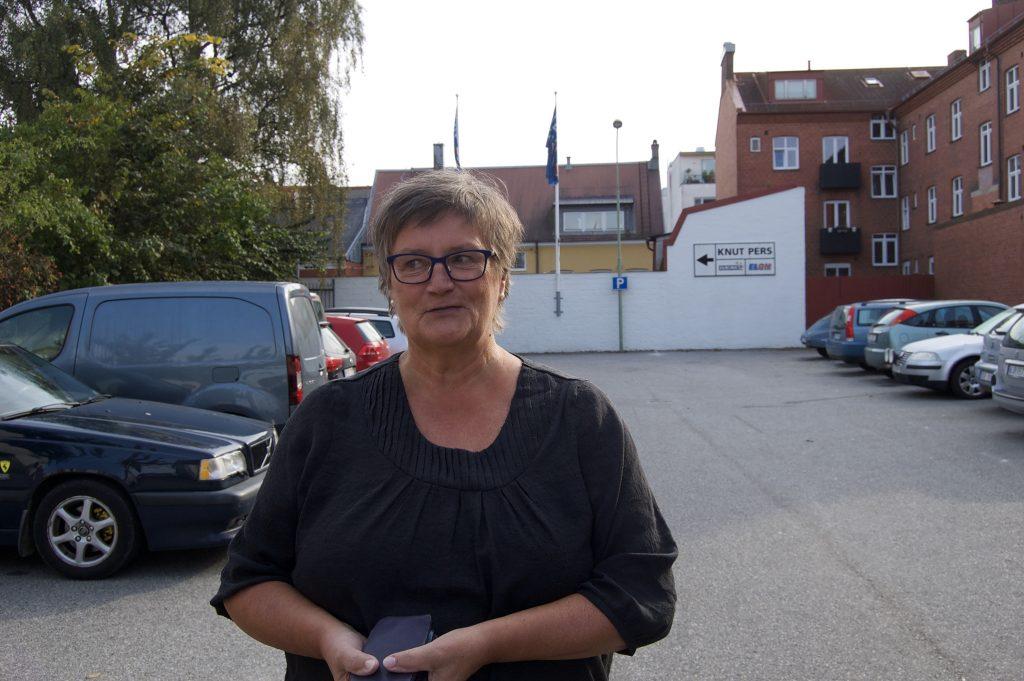 Monica Lindkvist, 66 år, på parkeringeringen