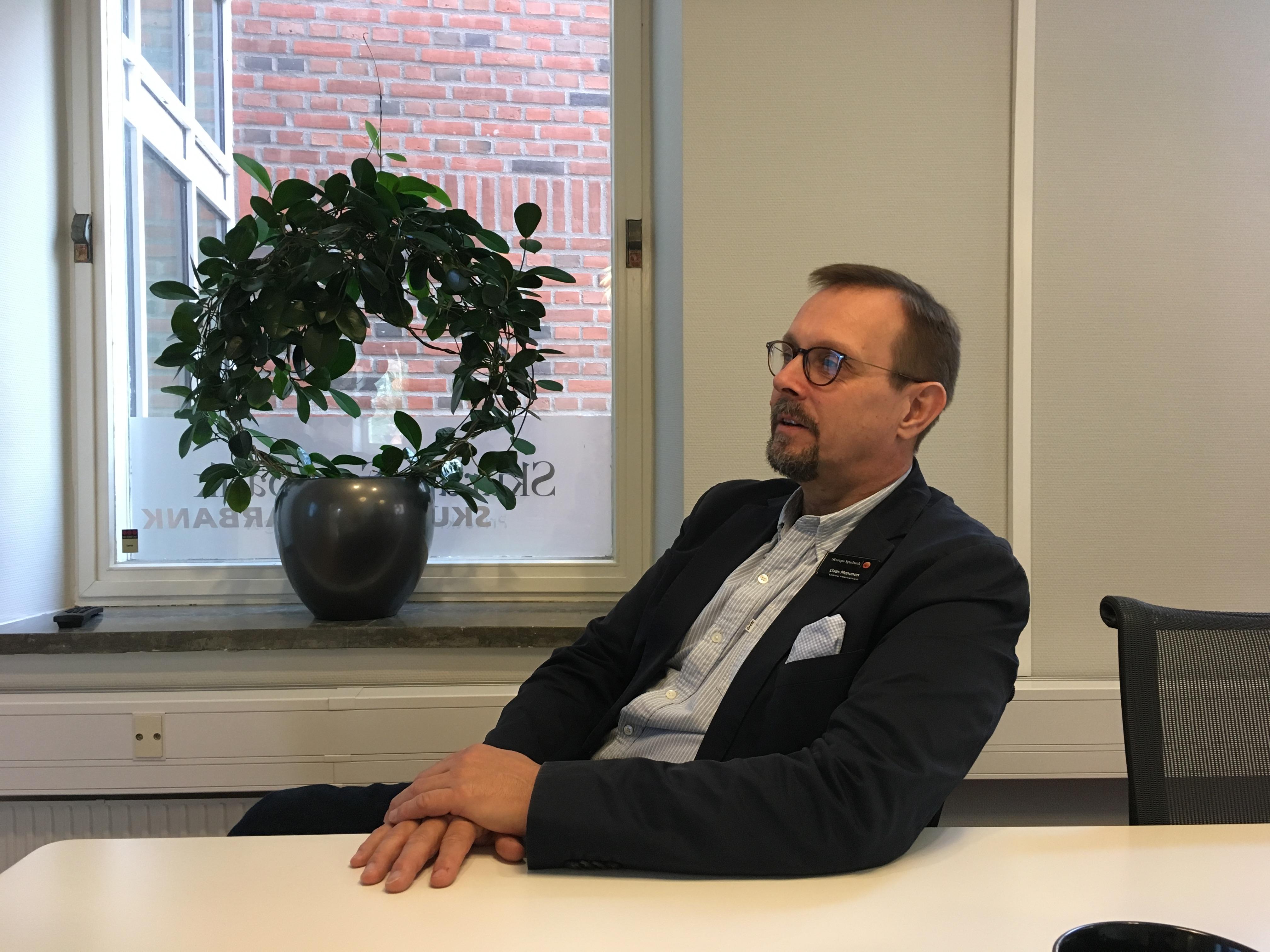 Claes Mononen, företagsrådgivare på Skurups sparbank.
