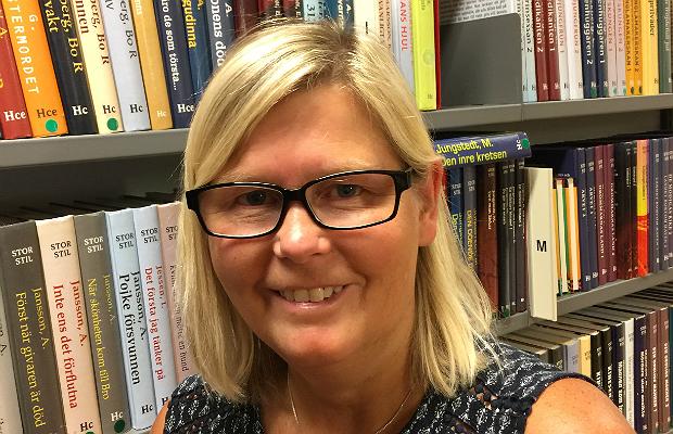 Anna Gustafsson, bibliotikarie, Skurups bibliotek.
