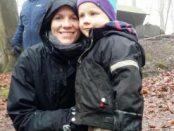 Amanda Hoffmann med sonen Rasmus. Båda har namnsdag i dag!