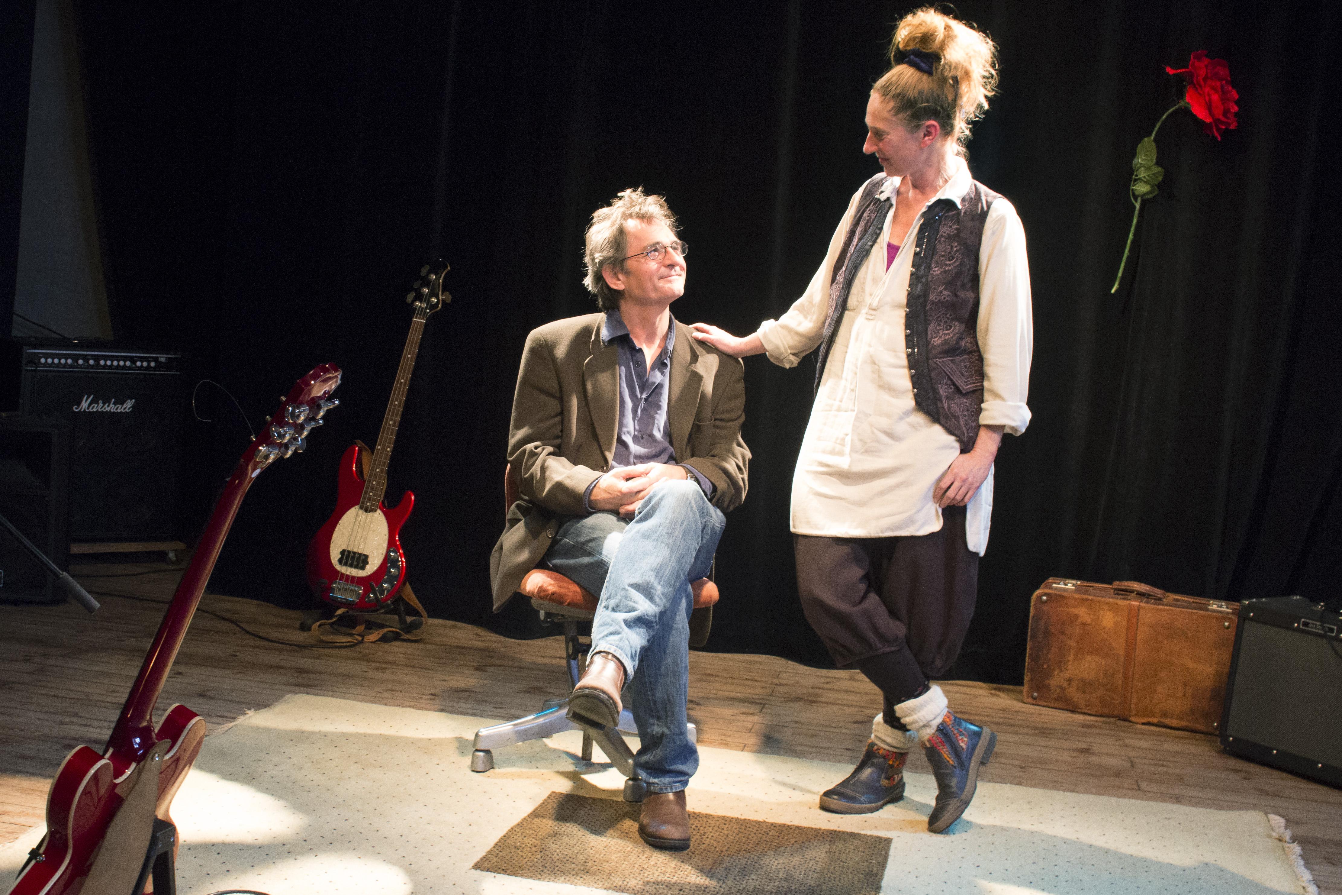 Janna Eriksson och Mladen Puric är skådespelare och driver Teater Kapija och Hotell Vagabond.