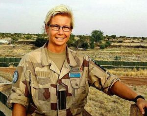 Maria Thorsson, fältpräst i FN.