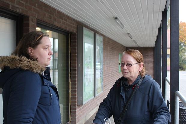 Pamela Andersson, 26 år, Skurup och Lykke Kristensen, 65 år, Skurup