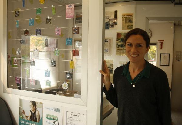 Elina Johansson är kurator i Ungdomsmottagningens buss som är i Skurup varje tisdag.