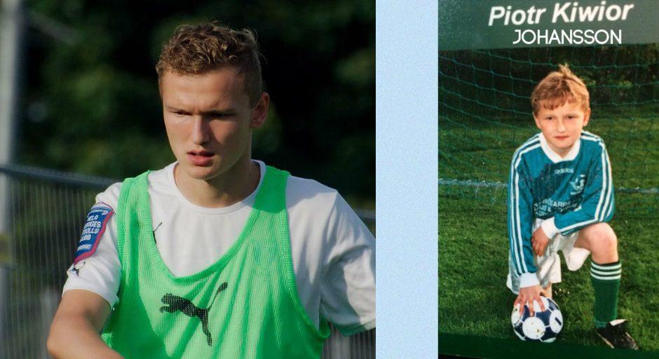 Piotr Johansson har tagit sig en lång från Skurups AIF till elitfotbollen i Sverige. (Bilden är ett montage)