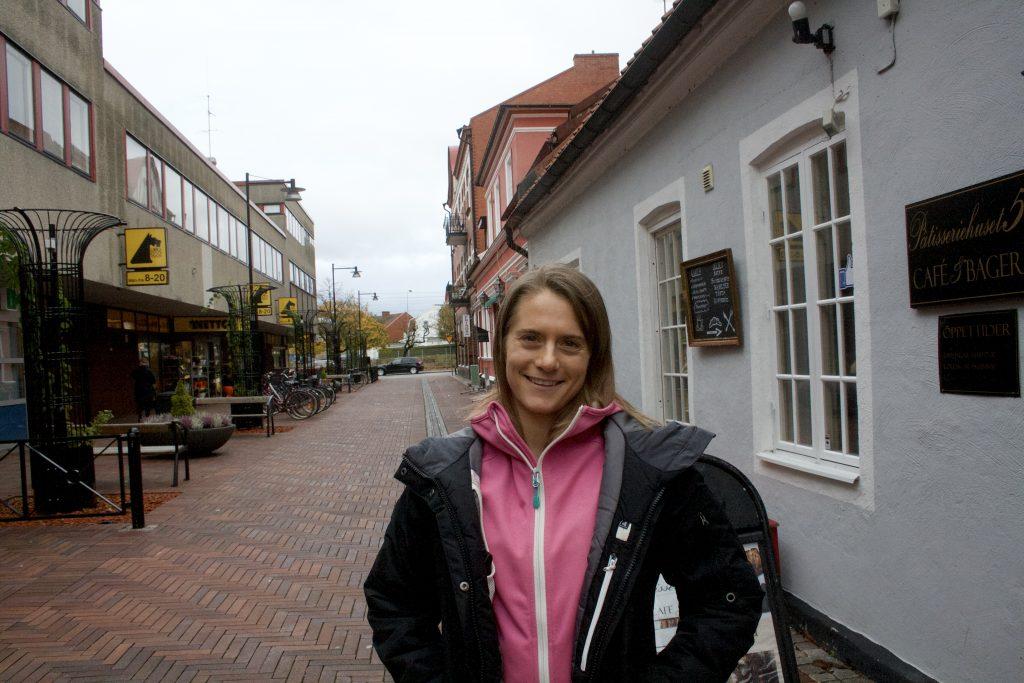 Carolin Larsson, första kvinnan som representerat Skurup i DM för styrkelyft.