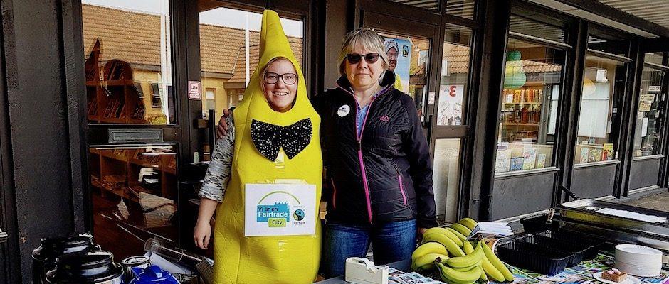 Sara Östberg och Kerstin Svanqvist sitter med i kommunens styrgruppen för Fairtrade City