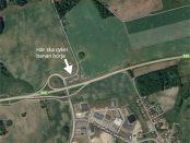 I anslutning till E65, strax norr om Skurup, ska den nya cykelvägen byggas.