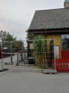Skytteföreningens lokal, som ligger belägen i Rydsgårdshus källare, är fortfarande under upptorkning efter översvämningen.