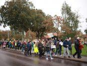 Mångas strejkar i Skurup idag.