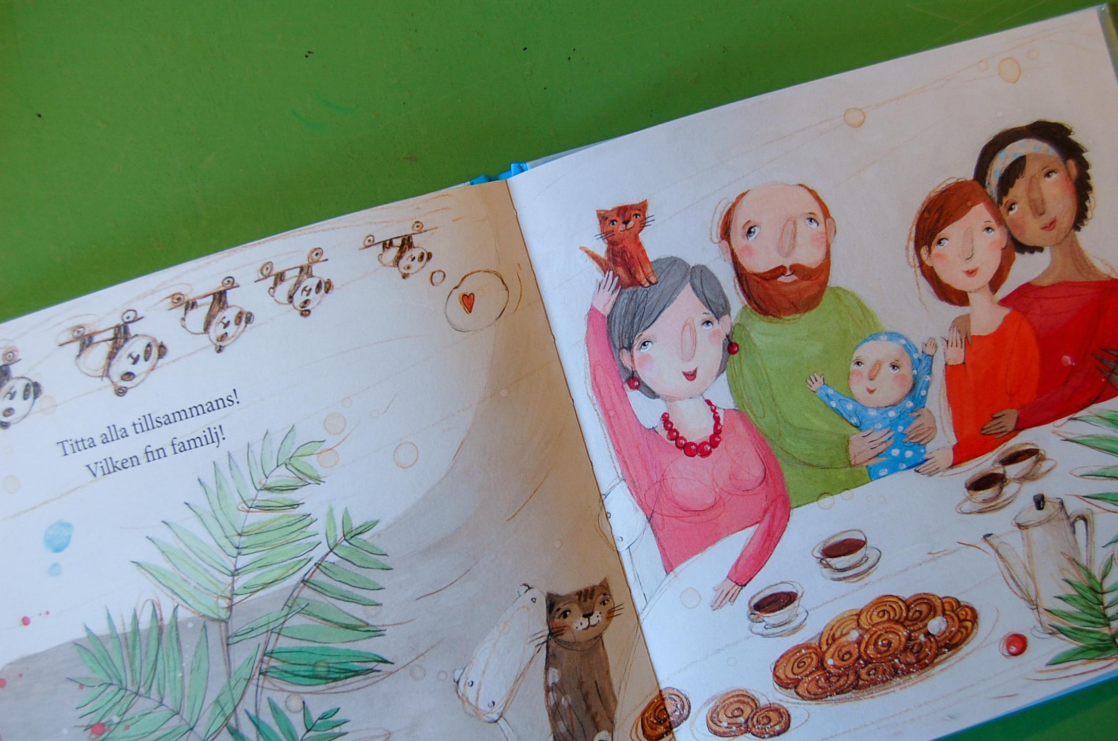 En av de barnböcker på Skurups bibliotek som kommer att regnbågsmärkas. Foto: Nina Kartal
