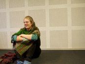 Amalie Malmgren Asmild tycker att det känns bra inför kvällens konsert, men är samtidigt lite stressad. Foto: Lenke Morath