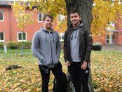 Anton Kjellin och Johan Nilsson kammade hem pallplatser i Gymansiemästerskapen i E-sport. Foto: Mattias Nilson