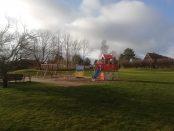 En av tre lekplatser i Skivarp