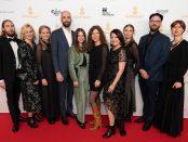 Hela teamet bakom filmen på Guldbaggegalan.