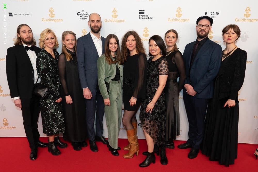 Hela teamet bakom filmen på prisutdelningen.
