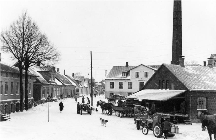 Västra Storgatan i Rydsgård, 1950-tal. Foto: Ernst Andersson.