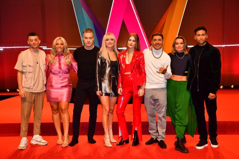 Deltagare från Melodifestivalens andra deltävling i Göteborg, 2020. Foto: Jonas Ekströmer / TT