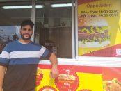 Abdalrahman Jardou driver falafelvagnen Skurups Falafel och Grill vi stationen.