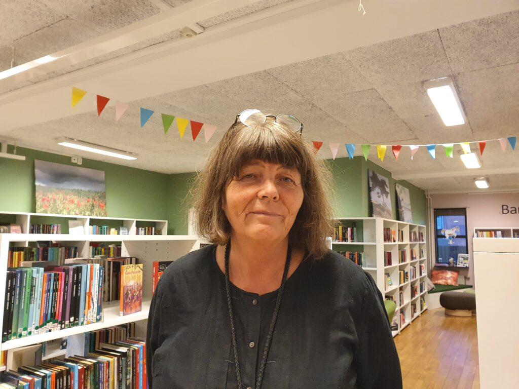 Bibliotekarien Kerstin Wallner. Foto: Dusan Marinkovic