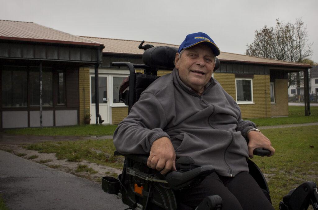 Jonny Nilsson, boende på Flintebrohemmet som haft trygghetslarm sen 2013