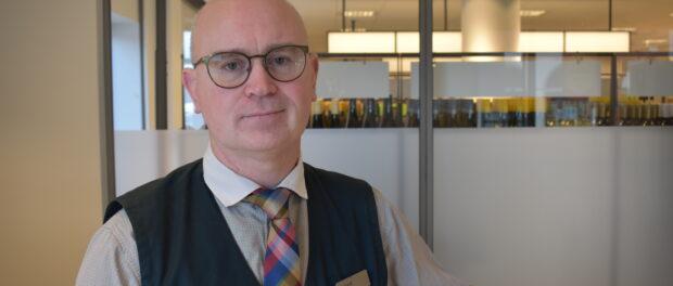 Rickard Tegelberg, butikschef på Systembolaget Skurup