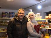 Butiksägaren Noor Hamed och hennes man Anas Chanan