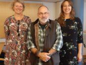 Maria Mårtensson, Folke Richardt och Maria Hansen Roce är arbetar för elevhälsan i Skurups kommun.