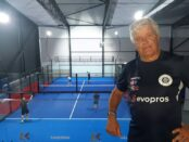 Lasse Håkansson, 69, ordförande för Skurups padelklubb.