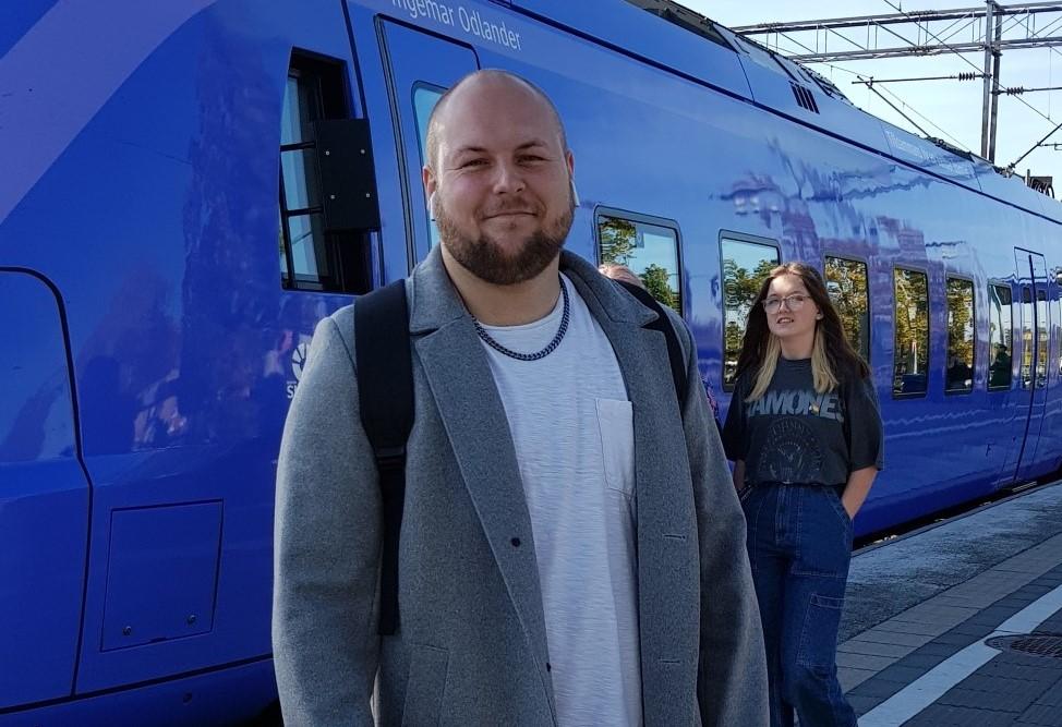 Efter tågresan var det skönt att vara framme i Skurup konstaterade Mattias Nederman.